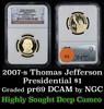 PCGS 2007-s Thomas Jefferson Presidential Dollar $1 Graded pr69 DCAM by PCGS