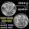 1944-p Walking Liberty Half Dollar 50c Grades Choice+ Unc
