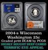 PCGS 2004-s Wisconson Washington Quarter 25c Graded pr69 DCAM by PCGS