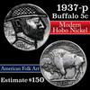 Hobo Buffalo Nickel 5c hand carved