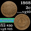 1868 Two Cent Piece 2c Grades vg+