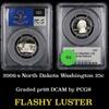 PCGS 2006-s North Dakota Washington Quarter 25c Graded pr69 DCAM by PCGS