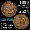 1896 Indian Cent 1c Grades Select AU
