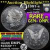 ***Auction Highlight*** 1897-s Morgan Dollar $1 Graded GEM+ UNC DMPL by USCG (fc)