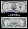1953B $5 Blue Seal Silver certificate Grades vf++