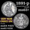 1891-p Seated Liberty Dime 10c Grades Select+ Unc (fc)