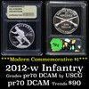 2012-W Infantry Modern Commem Dollar $1 Graded GEM++ Proof Deep Cameo by USCG