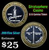 Stratosphere Casino .999 Fine Silver Gaming Token