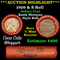 ***Auction Highlight*** Lincoln Wheat cent 1c orig roll, 1909-s one end,  VDB rev other, WOW! (fc)