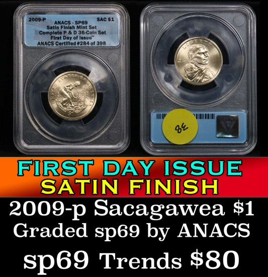 ANACS 2009-p Sacagawea Dollar 1 Graded sp69 by ANACS