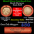 Lincoln Wheat cents 1c orig shotgun roll, 1916-s one end, 1875 Indian cent other end Image 1