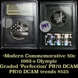 1992-S Olympic Modern Commem Half Dollar 50c Graded GEM++ Proof Deep Cameo by USCG