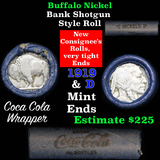 Full roll of Buffalo Nickels, 1919 on one end & a 'd' Mint reverse on other end (fc)