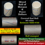 **Auction Highlight** Morgan & Peace $1 Mixed Roll Steel Strong Shotgun Wrapper w/Covered Ends (fc)