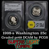 1998-s Washington Quarter 25c Graded pr69 DCAM by PCGS