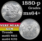 1880-p Morgan Dollar $1 Grades Choice+ Unc