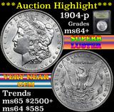 1904-p Morgan Dollar $1 Grades Choice+ Unc