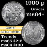 1900-p Morgan Dollar $1 Grades Choice+ Unc