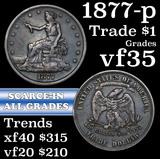 1877-p Trade Dollar $1 Grades vf++