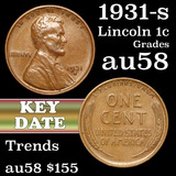 1931-s Lincoln Cent 1c Grades Choice AU/BU Slider