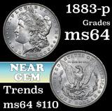 1883-p Morgan Dollar $1 Grades Choice Unc