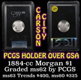 PCGS 1884-cc Morgan Dollar $1 Graded ms62 by PCGS (fc)