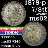 1878-p 7/8tf Morgan Dollar $1 Grades Select Unc