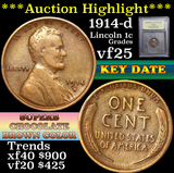 ***Auction Highlight*** 1914-d Lincoln Cent 1c Graded vf+ by USCG (fc)