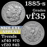 1885-s Morgan Dollar $1 Grades vf++