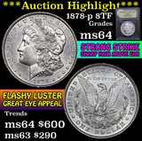 ***Auction Highlight*** 1878-p 8tf Morgan Dollar $1 Graded Choice Unc by USCG (fc)