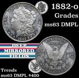 1882-o Morgan Dollar $1 Grades Select Unc DMPL