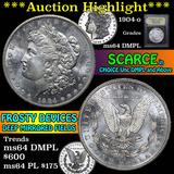 ***Auction Highlight*** 1904-o Morgan Dollar $1 Graded Choice Unc DMPL by USCG (fc)