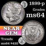 1899-p Morgan Dollar $1 Grades Choice Unc