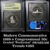 1989-S Congress Modern Commem Half Dollar 50c Graded GEM++ Proof Deep Cameo by USCG