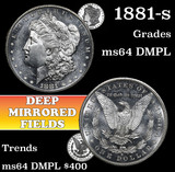 1881-s Morgan Dollar $1 Grades Choice Unc DMPL