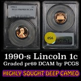 1990-s Lincoln Cent 1c Graded pr69 RD DCAM by PCGS