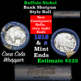 Full roll of Buffalo Nickels, 1915 on one end & a 's' Mint reverse on other end (fc)
