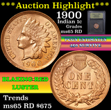 ***Auction Highlight*** 1900 Indian Cent 1c Graded GEM Unc RD by USCG (fc)