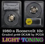 1980-s Roosevelt Dime 10c Graded pr69 DCAM by PCGS