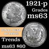 1921-p Morgan Dollar $1 Grades Select Unc