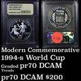 1994-P World Cup Modern Commem Half Dollar 50c Graded GEM++ Proof Deep Cameo by USCG