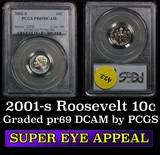 2001-s  Roosevelt Dime 10c Graded pr69 DCAM by PCGS