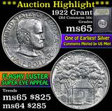 ***Auction Highlight*** 1922 Grant Old Commem Half Dollar 50c Graded GEM Unc by USCG (fc)