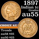 1897 Indian Cent 1c Grades Choice AU