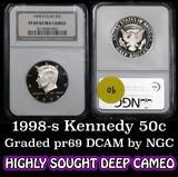 NGC 1998-s Kennedy Half Dollar 50c Graded pr69 DCAM by NGC