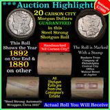 ***Auction Highlight*** Carson City Morgan dollar roll ends 1892 & 1880, average circ (fc)