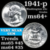 1941-p Washington Quarter 25c Grades Choice+ Unc