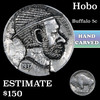 Hobo Buffalo Nickel 5c Grades Hand Carved