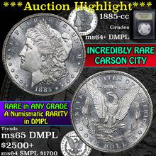 1885-cc Morgan Dollar $1 Graded Choice Unc+ DMPL