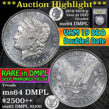 1878/1878-p 8tf Vam 19 Morgan Dollar $1 Graded